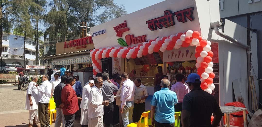 lassighar Shop with customers enjoying the Deserts